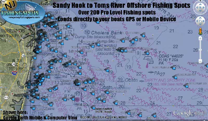 Sandy Hook New Jersey Fishing Spots New Jersey Gps Fishing Spots